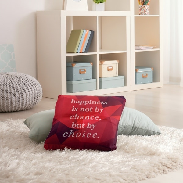 Quotes Faux Gemstone Happiness Inspirational Quote Floor Pillow - Square Tufted. Opens flyout.