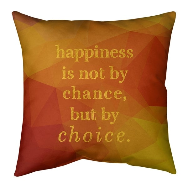 Quotes Faux Gemstone Happiness Inspirational Quote Floor Pillow - Standard