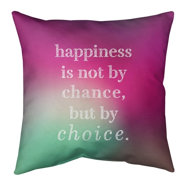 Quotes Multicolor Background Happiness Inspirational Quote Pillow-Faux Suede