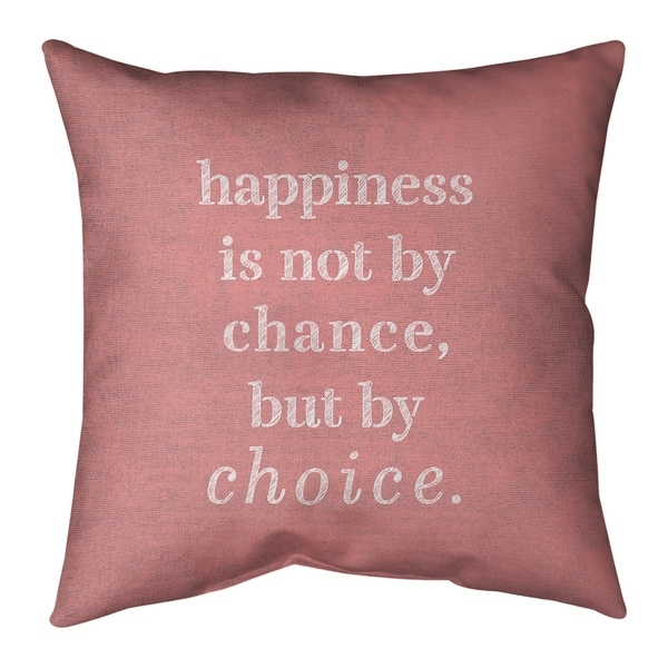 Quotes Handwritten Happiness Inspirational Quote Pillow-Faux Linen