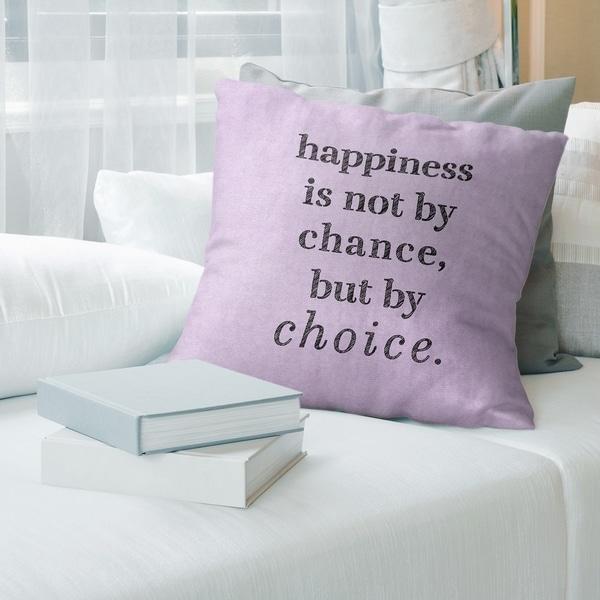 Quotes Handwritten Happiness Inspirational Quote Floor Pillow - Standard