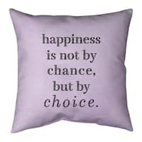Quotes Faux Gemstone Happiness Inspirational Quote Pillow Indoor Outdoor Overstock 30309349