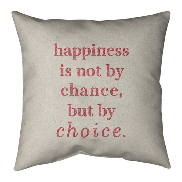 Quotes Handwritten Happiness Inspirational Quote Pillow-Faux Suede
