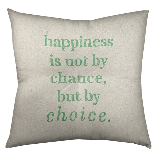 Quotes Handwritten Happiness Inspirational Quote Floor Pillow - Square Tufted. Opens flyout.