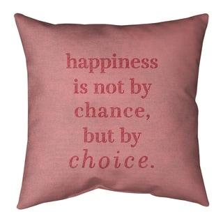 Quotes Handwritten Happiness Inspirational Quote Pillow Indoor Outdoor Overstock 30309646