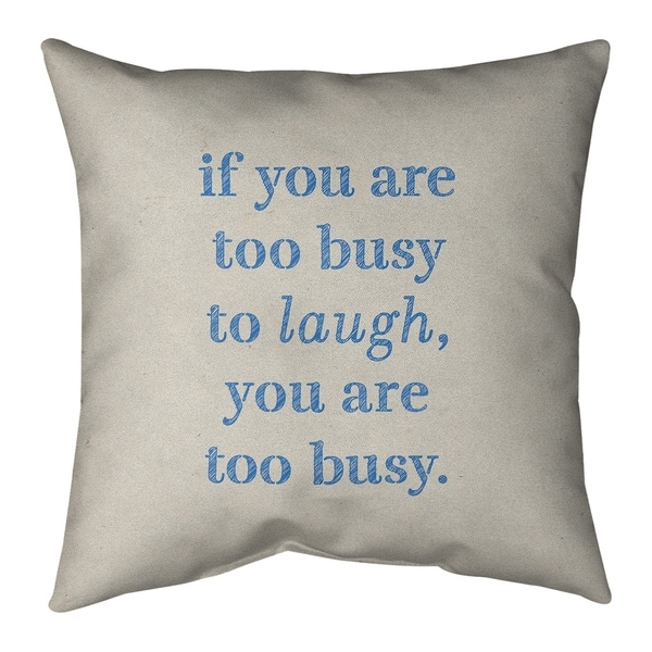 Quotes Handwritten Make Time for Laughter Quote Pillow-Faux Suede