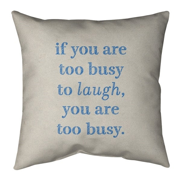 Quotes Handwritten Make Time for Laughter Quote Pillow-Cotton Twill