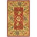 """Safavieh Handmade Boitanical Red/ Ivory Wool Runner Rug - 2'6"""" x 4'"""