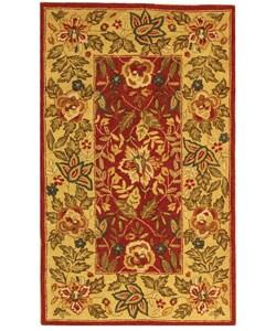 Safavieh Handmade Boitanical Red/ Ivory Wool Rug (2'9 x 4'9)