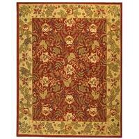 Safavieh Handmade Boitanical Red/ Ivory Wool Rug - 6' x 9'