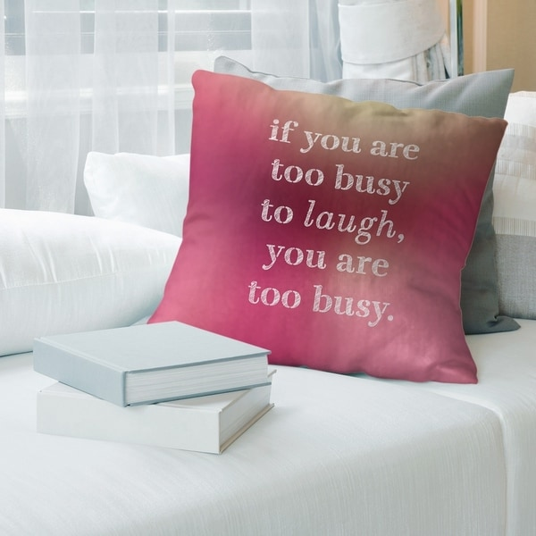 Quotes Multicolor Background Make Time for Laughter Quote Floor Pillow - Standard