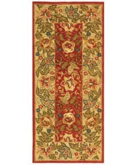 Safavieh Handmade Boitanical Red/ Ivory Wool Runner (2'6 x 6')