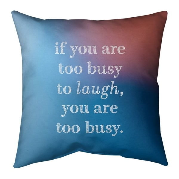 Quotes Multicolor Background Make Time for Laughter Quote Pillow-Spun Polyester