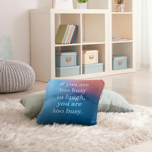 Quotes Multicolor Background Make Time for Laughter Quote Floor Pillow - Square Tufted