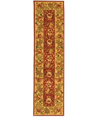 "Safavieh Handmade Boitanical Red/ Ivory Wool Runner - 2'6"" x 10'"