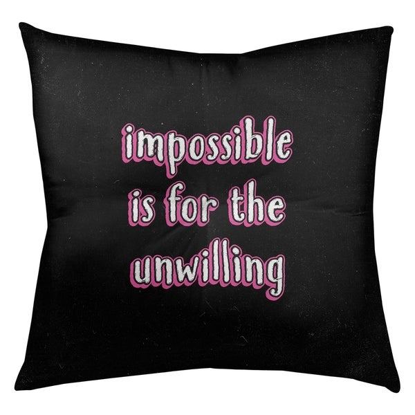 Quotes Impossible Quote Chalkboard Style Floor Pillow - Square Tufted