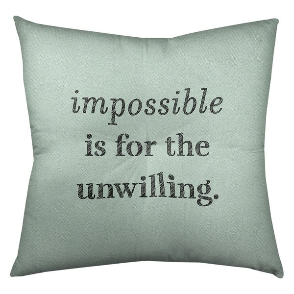Quotes Handwritten Impossible Quote Floor Pillow - Square Tufted