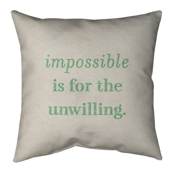 Quotes Handwritten Impossible Quote Floor Pillow - Standard