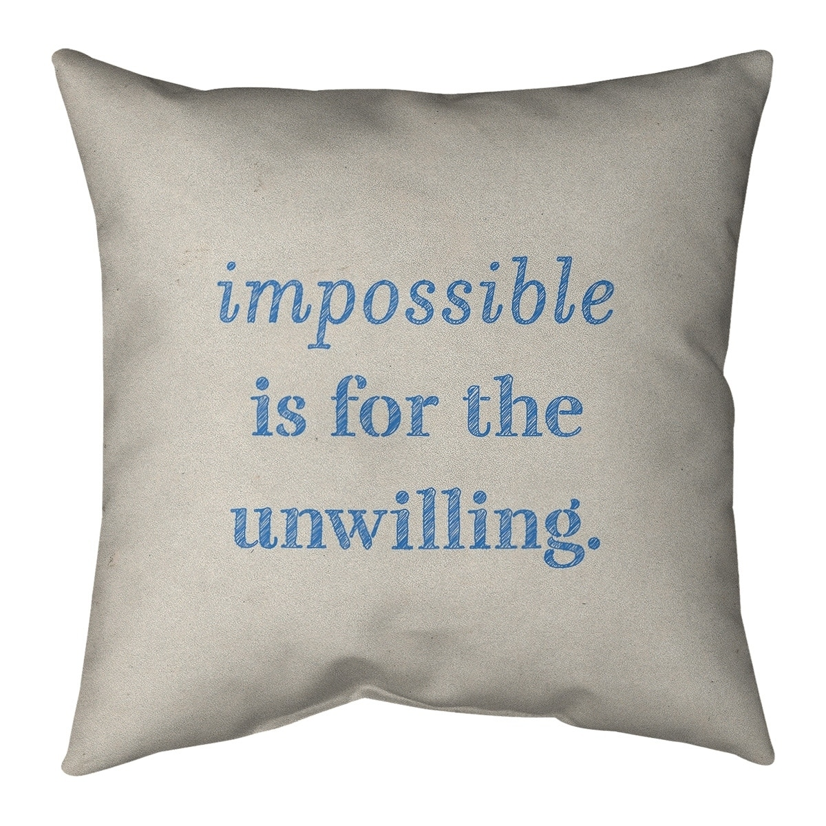 Quotes Handwritten Impossible Quote Floor Pillow Standard Overstock 30309914