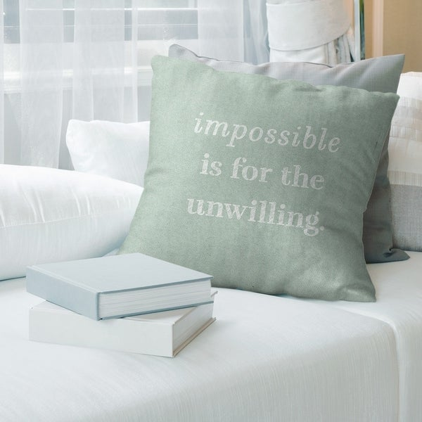 Quotes Handwritten Impossible Quote Pillow-Cotton Twill