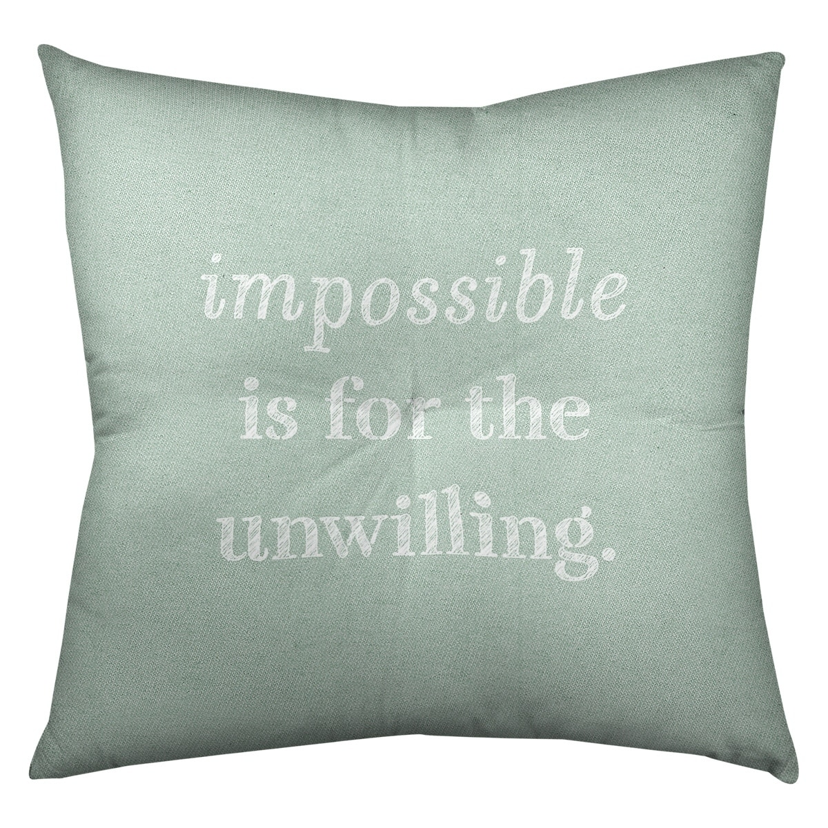 Quotes Handwritten Impossible Quote Floor Pillow Square Tufted Overstock 30309927