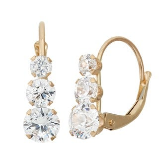 Link to Gioelli 10k Yellow Gold Cubic Zirconia Earrings Similar Items in Earrings