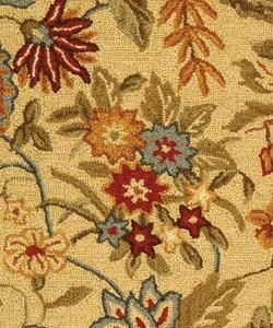 Safavieh Handmade Paradise Ivory Wool Rug (1'8 x 2'6) - Thumbnail 1