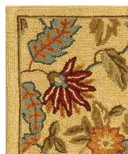 Safavieh Handmade Paradise Ivory Wool Rug (1'8 x 2'6) - Thumbnail 2