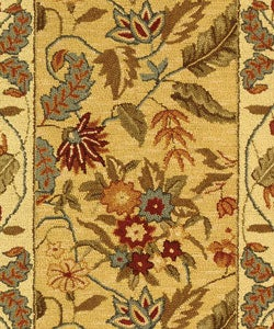 Safavieh Handmade Paradise Ivory Wool Rug (2'6 x 6') - Thumbnail 1