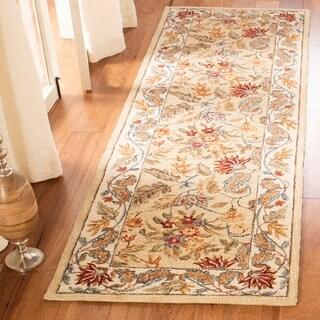 "Safavieh Handmade Paradise Ivory Wool Rug - 2'6"" x 8'"