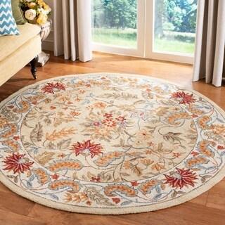 Safavieh Handmade Paradise Ivory Wool Rug (8' Round)