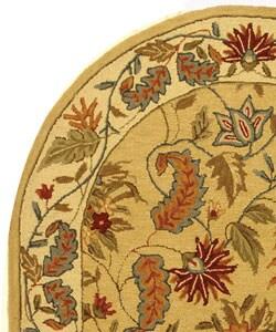 Safavieh Handmade Paradise Ivory Wool Rug (4'6 x 6'6 Oval) - Thumbnail 2
