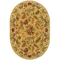 """Safavieh Handmade Paradise Ivory Wool Rug - 4'6"""" x 6'6"""" oval"""