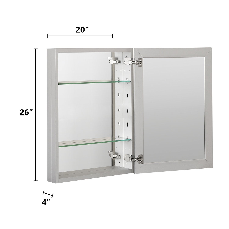 Recessed Or Surface Frameless Medicine Cabinet Overstock 30312625
