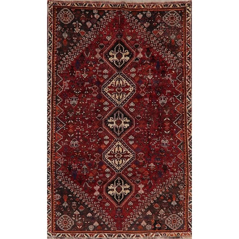 "Vintage Vegetable Dye Tribal Abadeh Persian Oriental Area Rug Handmade - 5'6"" x 8'11"""