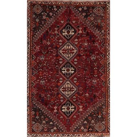 """Vintage Vegetable Dye Tribal Abadeh Persian Oriental Area Rug Handmade - 5'6"""" x 8'11"""""""