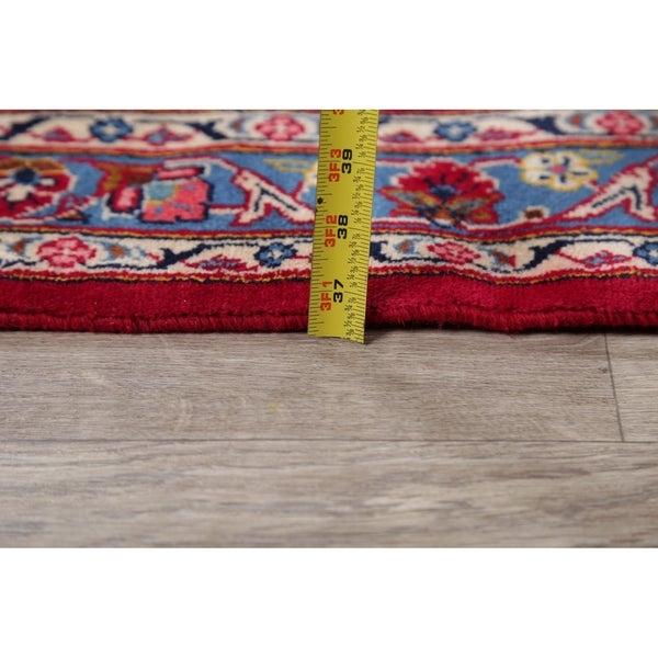 "Traditional Floral Kashan Persian Area Rug Handmade Oriental Carpet - 9'11"" x 13'3"""