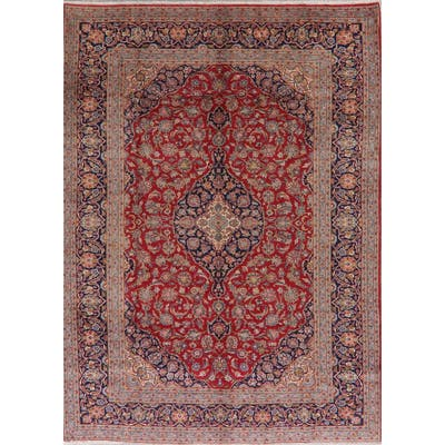"Kashan Persian Area Rug Handmade Traditional Floral Oriental Carpet - 8'4"" x 11'3"""