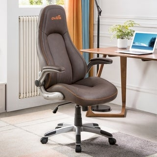 Ovios Ergonomic Office Chair,Modern Computer Desk Chair,high Back Leather Desk Chair with Lumbar Support
