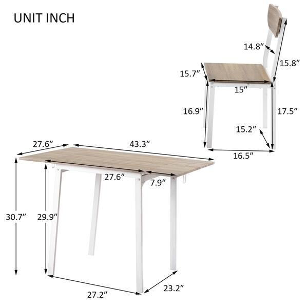5 Piece Modern Metal Dining Table