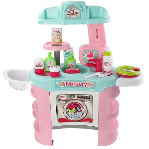 Deluxe Nursery Play Set with stove utensils food