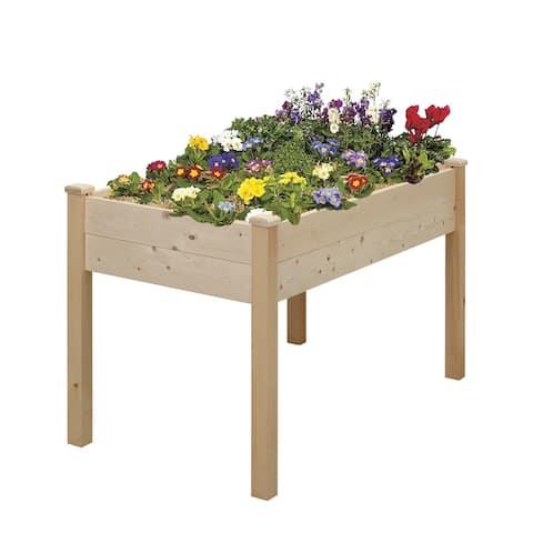 Ainfox Wooden Elevated Garden Flower Bed Planter Box
