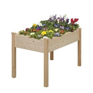 Ainfox Wooden Elevated Garden Flower Bed Planter Box