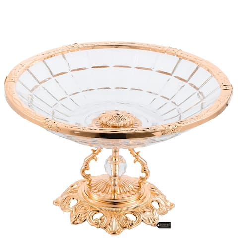 Crystal Candy Centerpiece Decorative Bowl,Round Serving Platter