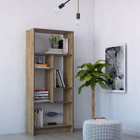 Carbon Loft Lucia Modern Geometric Bookcase