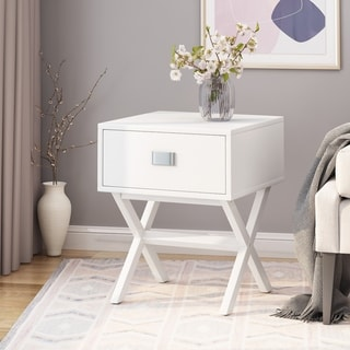"Link to Montclair Contemporary End Table by Christopher Knight Home - 15.75"" W x 15.75"" D x 22.00"" H Similar Items in Living Room Furniture"