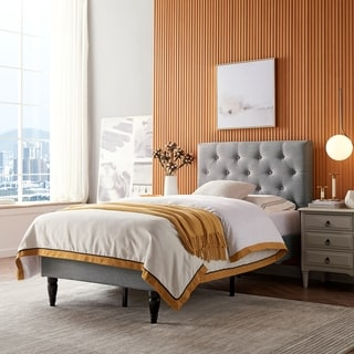 Atterbury Contemporary Upholstered Twin Bed Platform by Christopher Knight Home