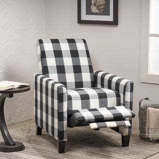 Foxhill Contemporary Fabric Upholstered Push Back Recliner by Christopher Knight Home