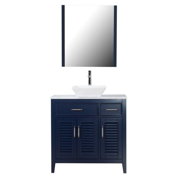 Shop Marina Del Rey 36 Quot Freestanding Vanity With Marble