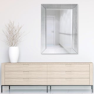 Link to Bling Beveled Glass Rectangle Wall Mirror,Bathroom Mirror - Clear - 30 in. x 1.24 in. x 40 in. Similar Items in Mirrors